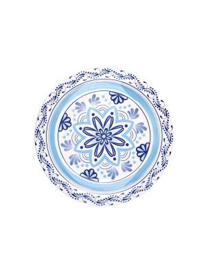 Набор тарелок обеденных ПУЭБЛА 26 см 6 шт Biona. Цвет: голубой