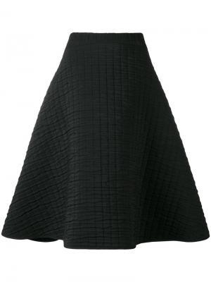 Текстурированная юбка А-образного силуэта Chalayan. Цвет: чёрный
