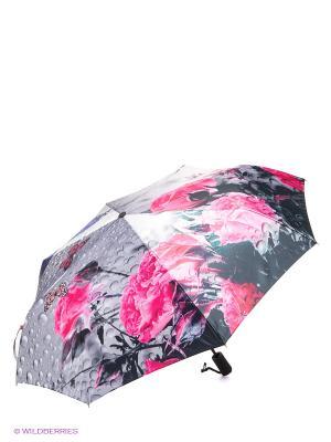 Зонт Flioraj. Цвет: серый, розовый