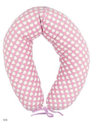 Подушка для беременных и кормления 40 недель. Цвет: сиреневый, серый