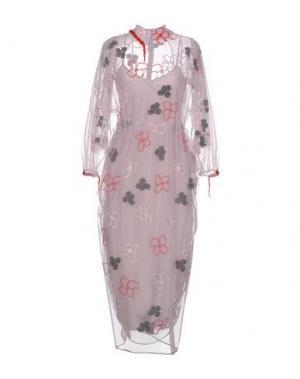 Длинное платье SIMONE ROCHA. Цвет: сиреневый