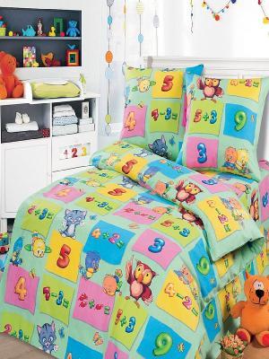 Комплект постельного белья Арт Постель. Цвет: голубой, розовый