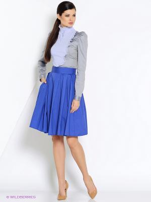 Блуза СОНЯ МАРМЕЛАДОВА. Цвет: серый, голубой