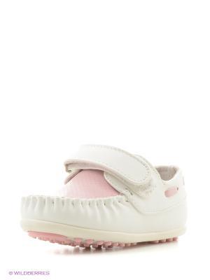 Мокасины Mursu. Цвет: розовый, белый