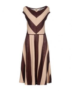 Платье до колена SIYU. Цвет: баклажанный