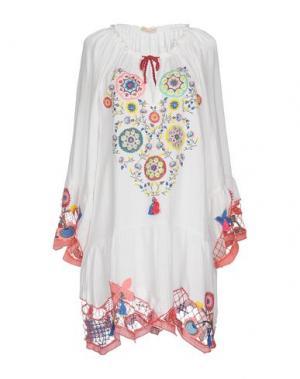 Короткое платье ANJUNA. Цвет: белый