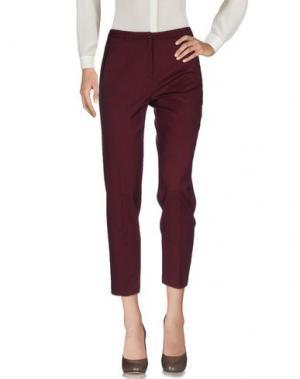Повседневные брюки LAURA URBINATI. Цвет: баклажанный