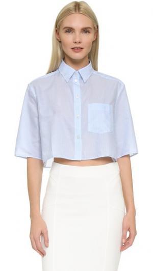 Блуза Genera в полоску Acne Studios. Цвет: тонкие голубые полоски