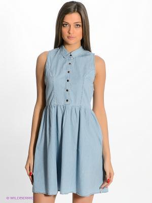 Платье Timezone. Цвет: голубой