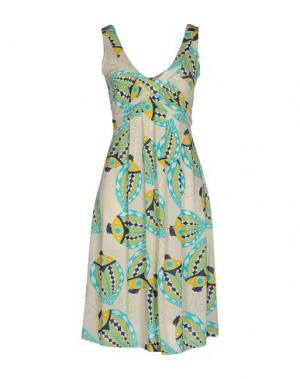 Короткое платье BINI Como. Цвет: бежевый