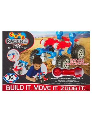 Подвижный конструктор с колесами  ZOOB Mobile Mini 4-Wheeler 12050. Цвет: красный, серый, синий, черный