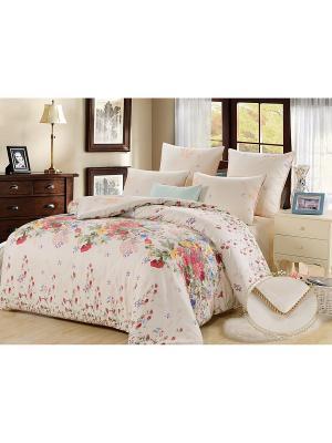 Комплект постельного белья, Арабелла , 1.5 спальный KAZANOV.A.. Цвет: молочный