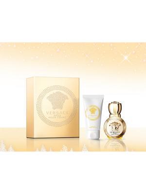 Набор Versace Eros Pour Femme парфюмированная вода 30 мл+лосьон для тела 50 мл. Цвет: прозрачный