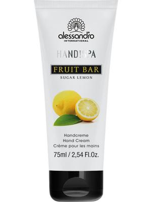 Ароматерапевтический увлажняющий крем для рук Сахарный лимон Sugar limon alessandro. Цвет: белый