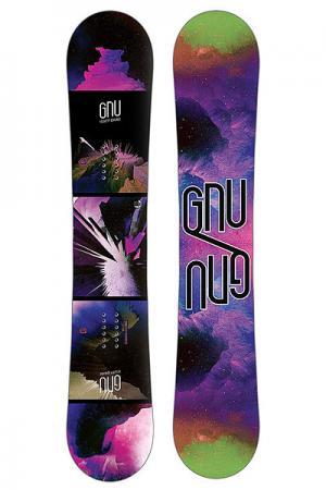Сноуборд  Velvet Gnuru 147 Ec2 Ast GNU. Цвет: черный,фиолетовый,зеленый