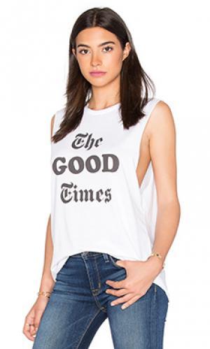 Майка the good times Laundry Room. Цвет: белый