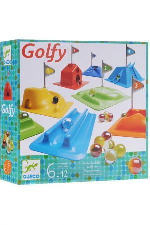 Набор для игры в Гольф Djeco. Цвет: голубой, оранжевый, желтый, зе