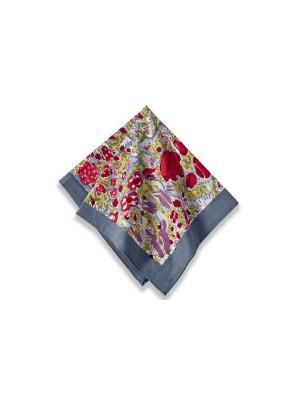 Салфетка Garden  grey-red /Сад серый-красный/ 50*50см, 100% хлопок Mas d'Ousvan. Цвет: красный, зеленый, серый