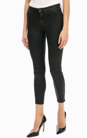Укороченные черные брюки Mavi. Цвет: черный