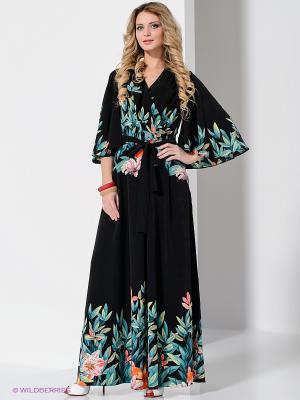 Платье Ksenia Knyazeva. Цвет: черный, зеленый, розовый