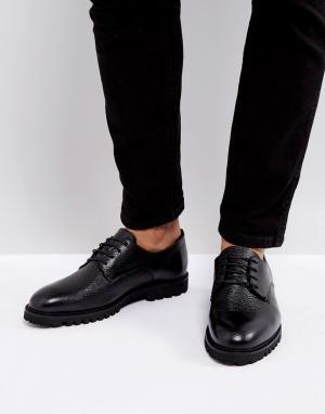 Zign Кожаные туфли на толстой подошве. Цвет: черный