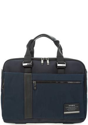 Синяя текстильная сумка с широким плечевым ремнем Samsonite. Цвет: синий