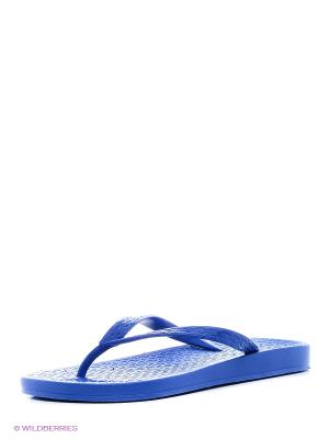 Пантолеты пляжные из поливинилхлоридной комп. женские BRIS. Цвет: голубой