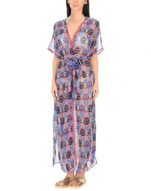 Пляжное платье PAOLITA. Цвет: лазурный