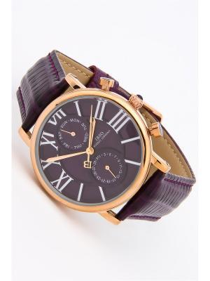Часы на ремне IBSO. Цвет: фиолетовый, золотистый