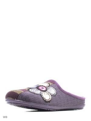 Тапочки Mon Ami. Цвет: лиловый
