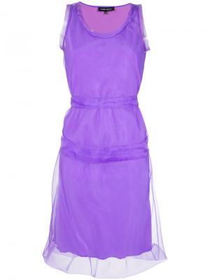 Short dress Gloria Coelho. Цвет: розовый и фиолетовый