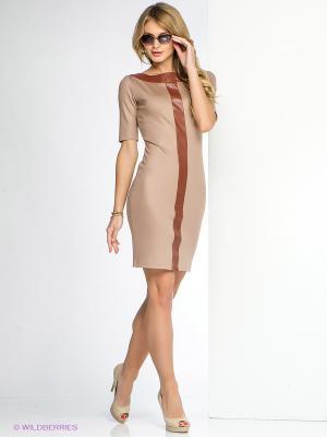 Платье SUGARLIFE. Цвет: темно-бежевый, коричневый