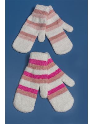 Варежки FOMAS. Цвет: белый, розовый, фуксия
