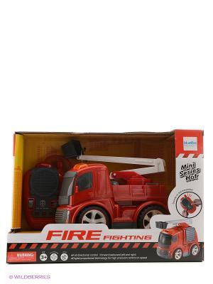 Машинка на радиоуправлении Пожарная, со звуковыми эффектами Blue Sea. Цвет: красный