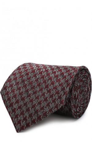 Шелковый галстук с узором Tom Ford. Цвет: бордовый