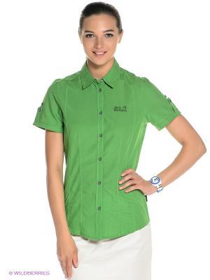 Рубашка BEYOND SHIRT W Jack Wolfskin. Цвет: зеленый