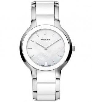 Часы с браслетом из керамики и нержавеющей стали RODANIA