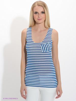 Топ American Outfitters. Цвет: синий, белый