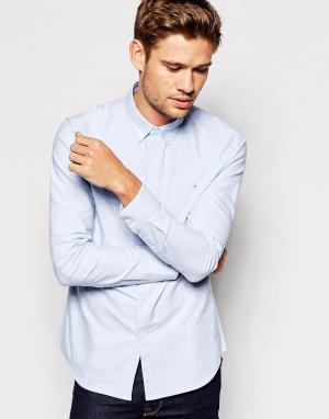 Farah Оксфордская рубашка узкого кроя. Цвет: синий