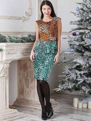 Платье MARY MEA. Цвет: коричневый, голубой