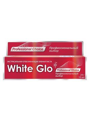 Зубная паста отбеливающая профессиональный выбор White Glo. Цвет: красный