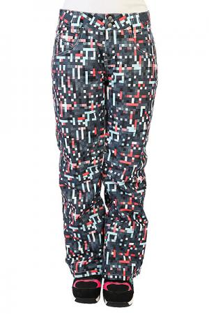 Штаны сноубордические женские  Fit Insulated Pants Sunset Oakley. Цвет: мультиколор