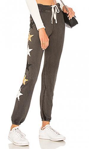 Свободные брюки side stars SUNDRY. Цвет: уголь