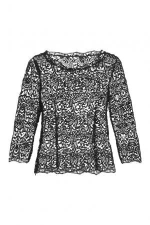 Кружевная блуза 159238 Plauener Spitze. Цвет: черный