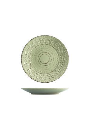 Набор тарелок десертных ПАТИО, 6 шт. H&H. Цвет: зеленый