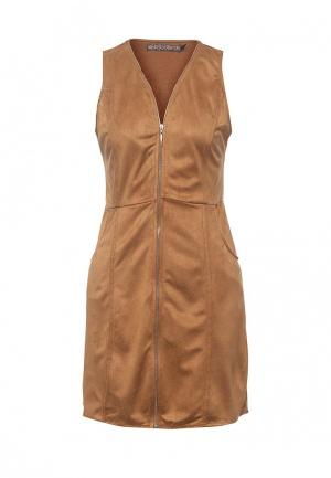 Платье QED London. Цвет: коричневый