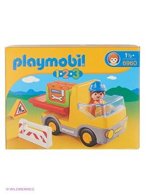 Самосвал Playmobil. Цвет: желтый, красный