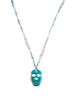 Ожерелье AURÉLIE BIDERMANN. Цвет: небесно-голубой