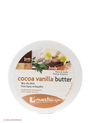 Крем для тела с маслом какао и ванилью Cocoa vanilla butter Mastic Spa. Цвет: бежевый