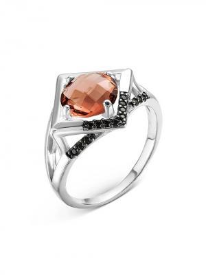 Кольцо ИНТАЛИЯ. Цвет: серебристый,розовый